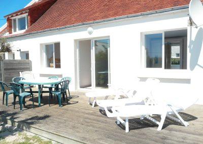 terrasse hébergement les mouettes plouescat